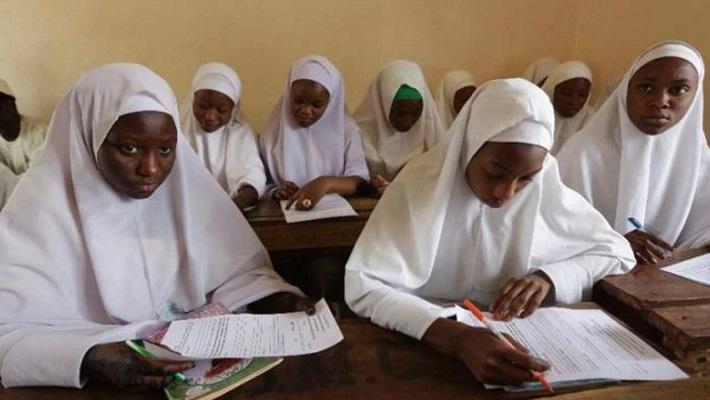 Nigerian femals students wearing Hijab