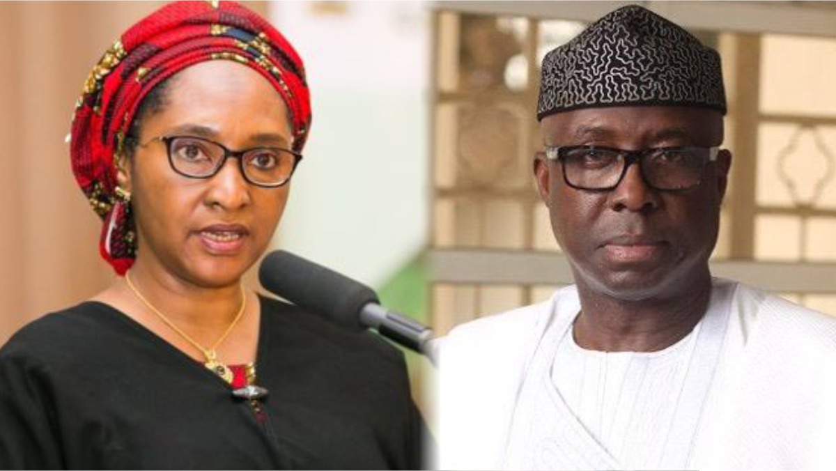 Nigerian minister of finance Zainab Ahmed and Adeniyi Adebayo, Minister of Industry, Trade and Investment