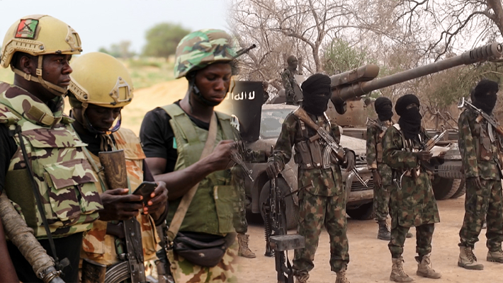 Nigerian soldiers and Boko Haram
