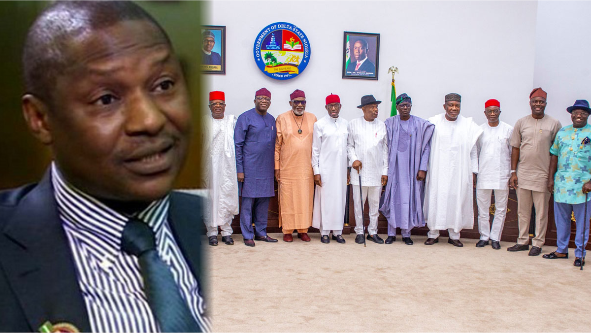 Nigeria's Attorney General, Abubakar Malami and Southern governors