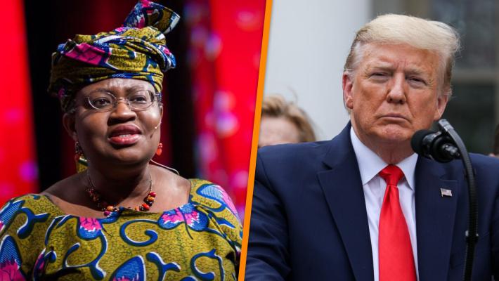 Okonjo Iweala and Donald Trump
