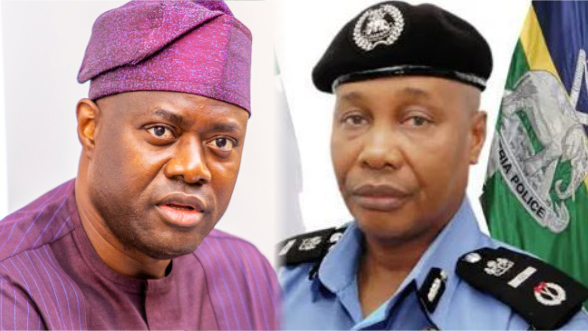 Oyo State governor, Seyi Makinde and Police Inspector General, Usman Baba