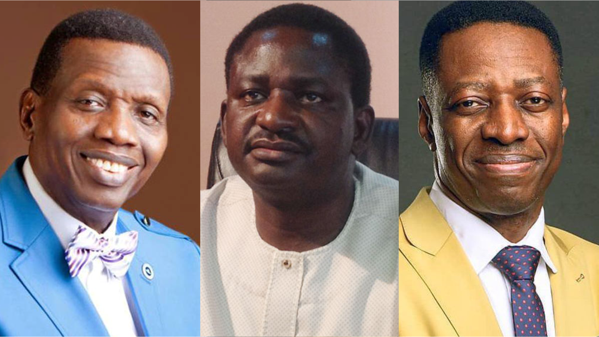 Pastor Enoch Adeboye, Femi Adesina, and Sam Adeyemi