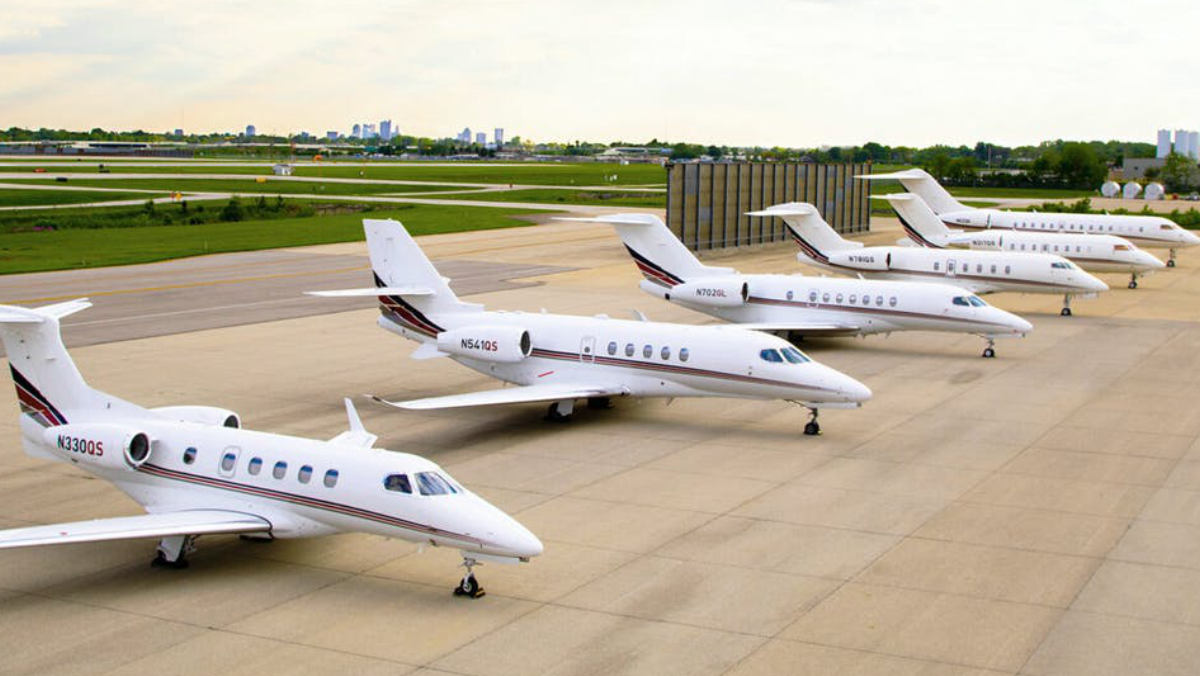 Photo of Private Jets used to illustrate the story