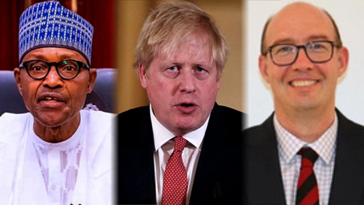 President Buhari, Boris Johnson, and Ben Llewellyn-Jones