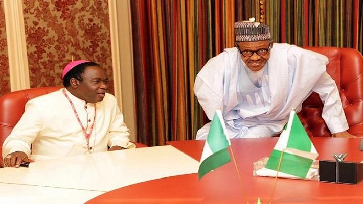 President Buhari and Bishop Kukah