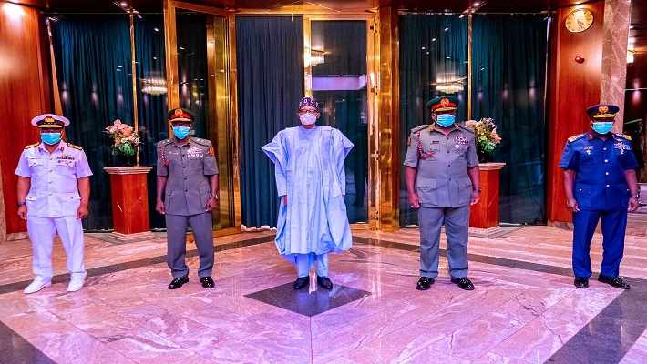President Buhari and new service Chiefs