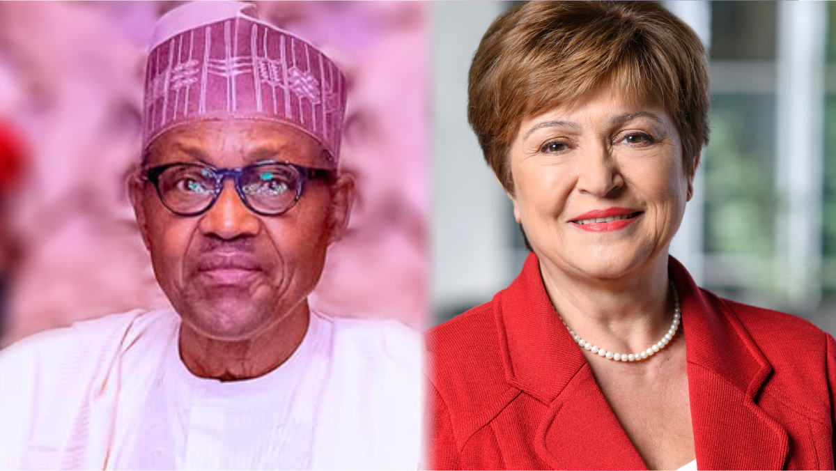 President Muhammadu Buhari, and Kristalina Georgieva, Managing Director of IMF