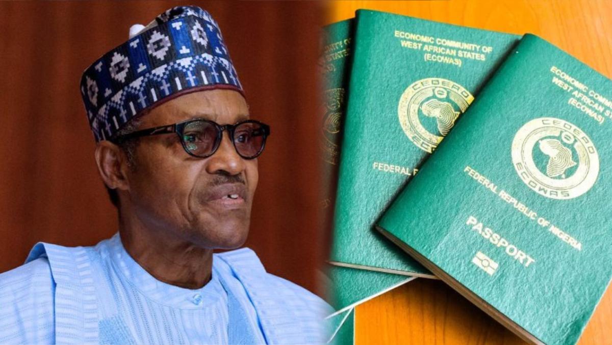 President Muhammadu Buhari and Nigerian International Passport
