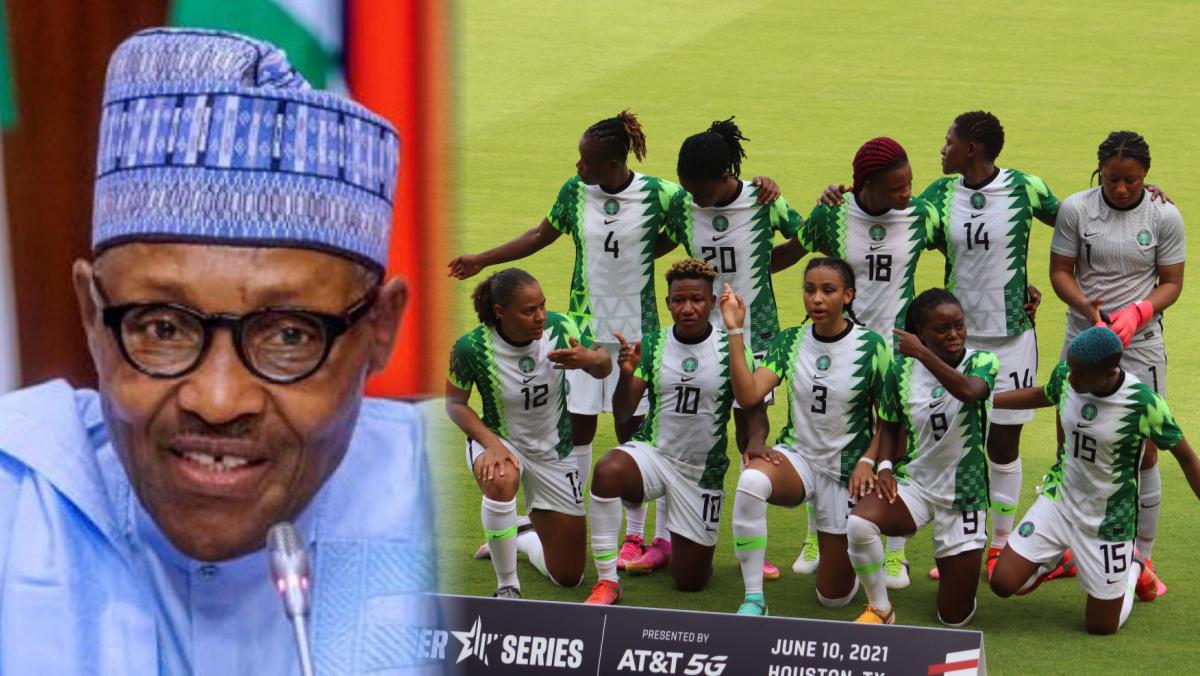 President Muhammadu Buhari and Super Falcons