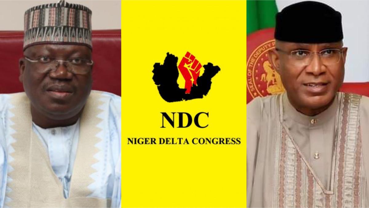 President of the Nigerian Senate, Ahmad Lawan, Niger Delta Congress (NDC), and Senator Ovie Omo-Agege