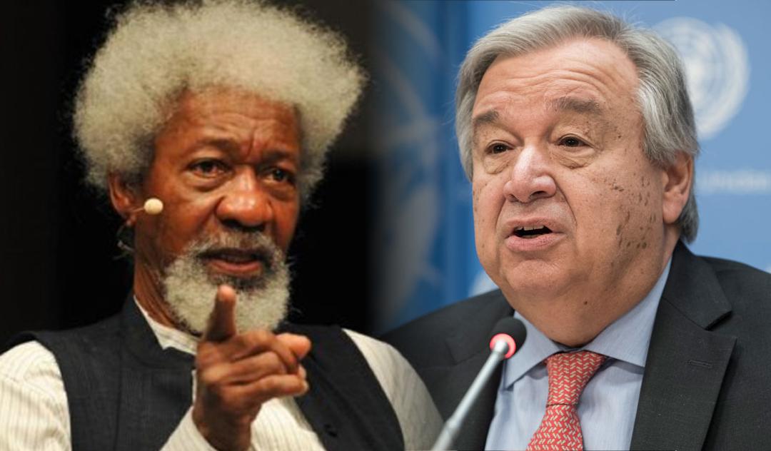 Professor Wole Soyinka and UN Secretary-General Antonio Guterres