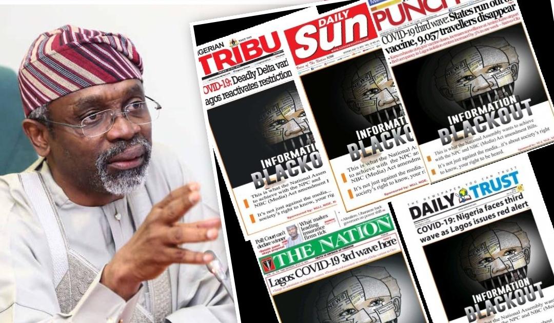 Gbajabiamila and newspapers cover
