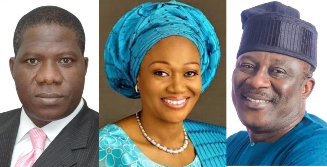 Remi Tinubu, Opeyemi Bamidele and Smart Adeyemi composite