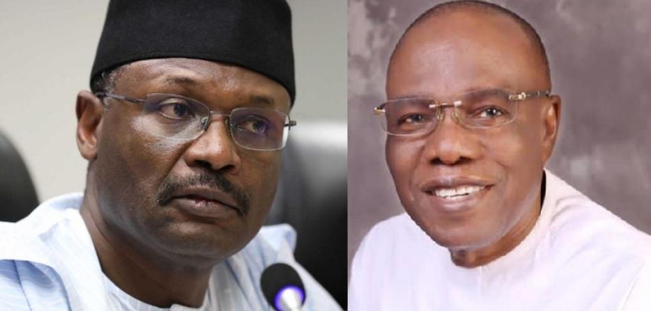 INEC Chair Yakub and Uba