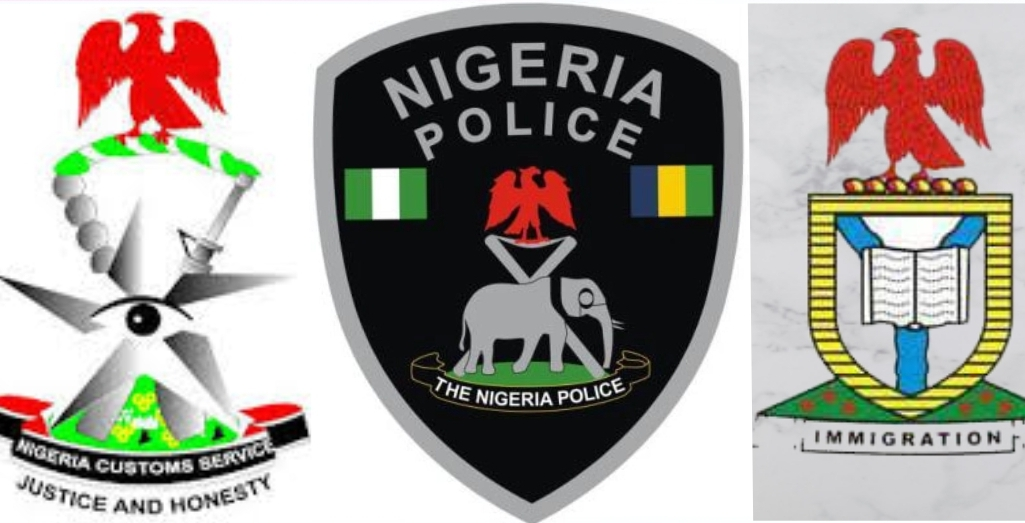 Police, immigration and customs