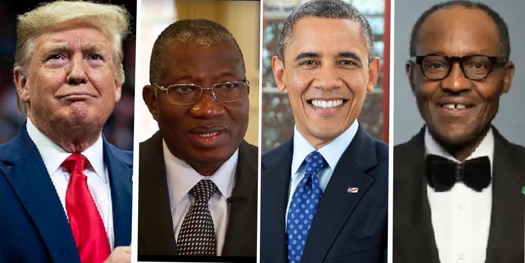 Trump, Jonathan, Obama and Buhari