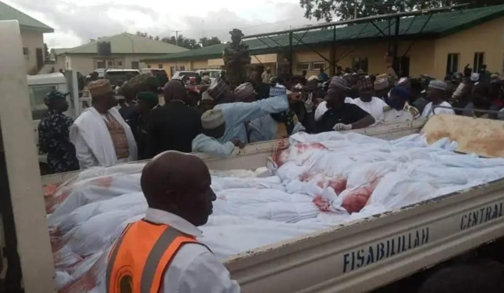 Corpse of those killed at Rukuba, Jos