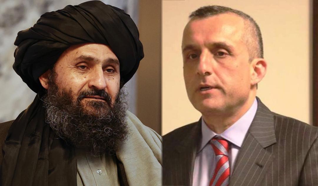 Taliban leader, Abdul Ghani Baradar and Amrullah Saleh