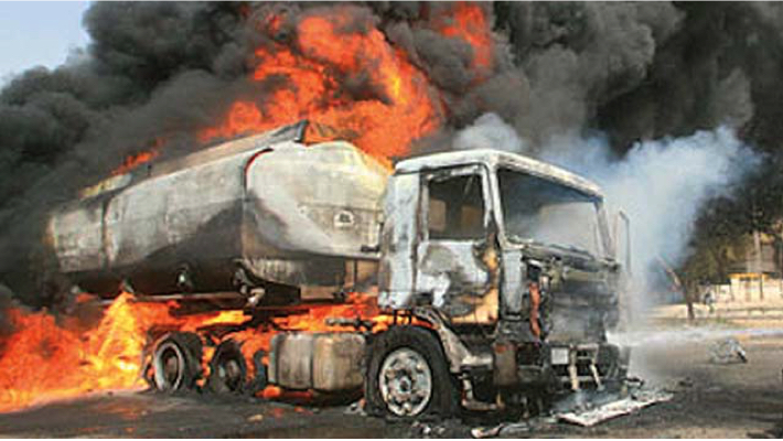 Tanker fire