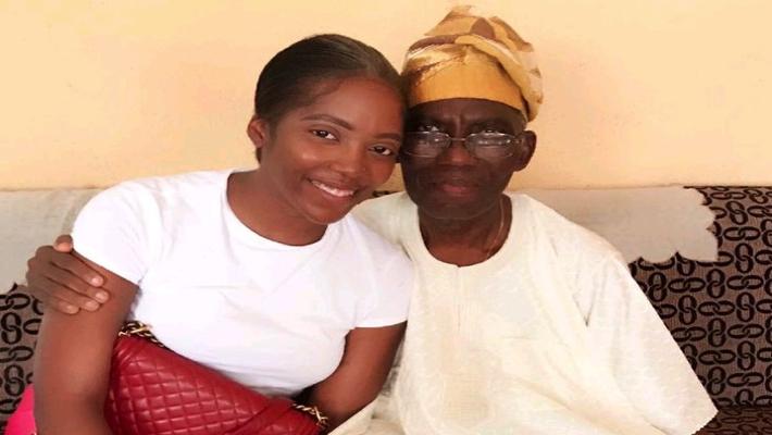 Tiwa Savage and her dad