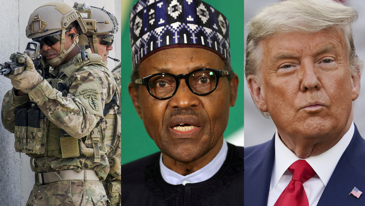 U.S. Special Forces, President Muhammadu Buhari, and former U.S. President Donald Trump