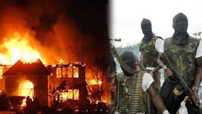 JUST IN: UGM burn down INEC, NDLEA offices in Abia under 24 hours