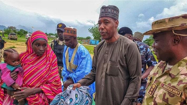 Babagana Zulum with Hassana Adamu