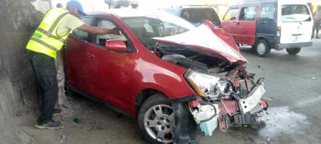 A crashed vehicle used to illustrate this story