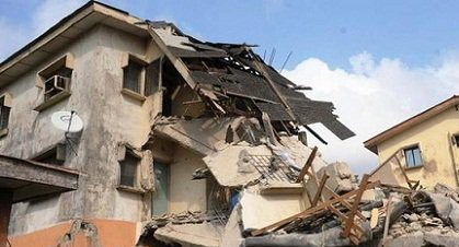 A photo of a collapsed building building used to illustrate this story