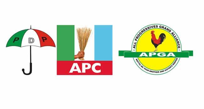 PDP, APC and APGA logos