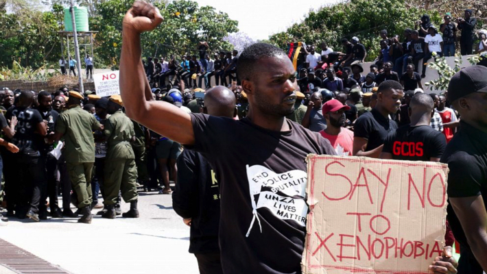 protest against xenophobia