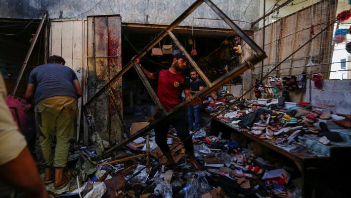 Scene of bombed market