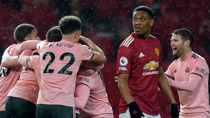 Sheffield defeat Manchester United at Old Trafford
